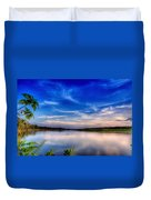 Evening On The River Duvet Cover