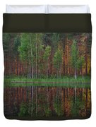 Evening Pond Duvet Cover