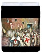 Templar Procession  Duvet Cover