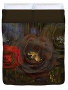 Evening Roses Duvet Cover
