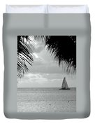 Evening Sail In Paradise Duvet Cover