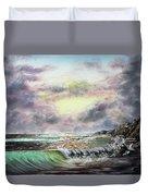 Evening Seashore Duvet Cover