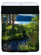 Evening Shadows At Lake George Duvet Cover
