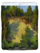 Evening Shadows Teanaway River Duvet Cover