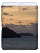 Evening Skies At Polzeath Duvet Cover