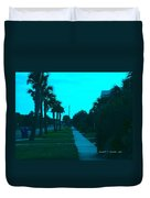 Evening Stroll At Isle Of Palms Duvet Cover