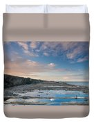 Evening View Down The South Jetty Duvet Cover