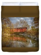 Everett Rd. Covered Bridge In Fall Duvet Cover