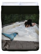Everglades City Florida Mermaid 071 Duvet Cover