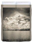 Everglades Lake 6919 Bw Duvet Cover
