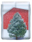 Evergreen In Winter 2 Duvet Cover