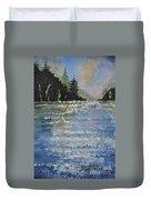 Evergreen Shore Duvet Cover