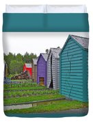 Every Garden Needs A Shed And Lawn Two In Les Jardins De Metis/reford Gardens Near Grand Metis-qc Duvet Cover