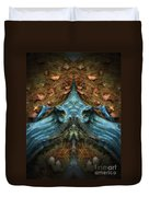 Evil Autumn Tree Roots Duvet Cover