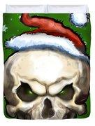Evil Christmas Skull Duvet Cover