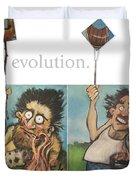 Evolution The Poster Duvet Cover