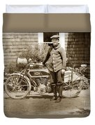 Excalibur Motorcycle California Circa 1915 Duvet Cover