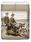 Excalibur Motorcycle Circa 1920 Duvet Cover