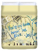 Excerpts From The Wall Memphis Duvet Cover