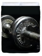 Exercise  Vintage Chrome Weights Duvet Cover