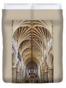 Exeter Cathedral And Organ Duvet Cover