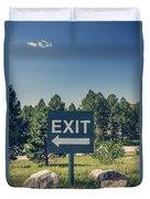 Exit Sign Duvet Cover