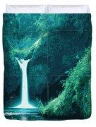 Exoplanet 04 Travel Poster Fomalhaut B Duvet Cover by Chungkong Art