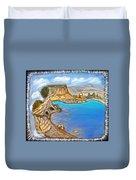 Exotic Beach Near Limassol Duvet Cover