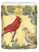 Exotic Bird Floral And Vine 2 Duvet Cover