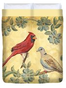 Exotic Bird Floral And Vine 2 Duvet Cover by Debbie DeWitt