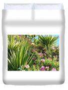 Exotic Hillside Garden Duvet Cover