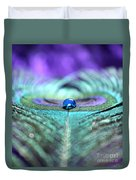 Exotic Peacock Duvet Cover by Krissy Katsimbras
