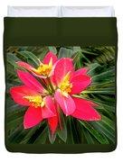 Exotic Red Flower Duvet Cover