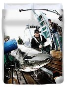 Expedition Great White Crew Conducts Duvet Cover