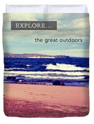 Explore The Great Outdoors Duvet Cover