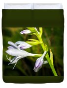 Exploring Hostas Duvet Cover