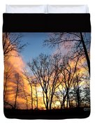 Explosion Of Color In The Sky Duvet Cover
