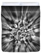 Explosive Abstract Black And White By Kaye Menner Duvet Cover