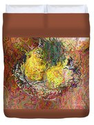 Expressionist 2 Messy Pears Duvet Cover