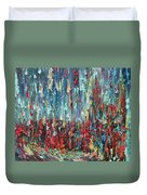 Expressionist Cat Oil Painting.1 Duvet Cover