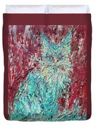 Expressionist Cat Oil Painting.3 Duvet Cover