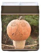 Expressive Pumpkin Duvet Cover