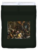 Expulsion Of The Merchants From The Temple Duvet Cover