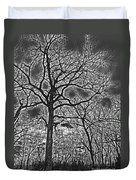 Extreme Contrast Bare Trees During Winter Photograph Duvet Cover