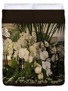 Exuberant Orchid Display Duvet Cover