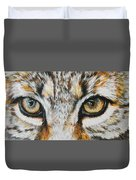 Eye-catching Bobcat Duvet Cover by Barbara Keith