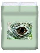 Eye Of A Common Iguana Iguana Iguana Duvet Cover