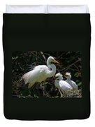 Eye Of The Egret Duvet Cover