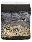 Eye Of The Gator Duvet Cover by Adam Jewell