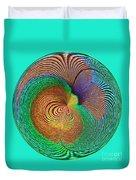 Eye Of The Peacock Orb Duvet Cover